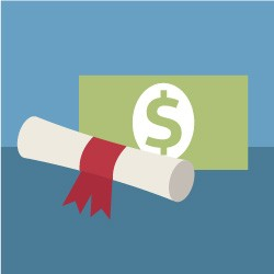 Paying For College  - Magazine cover